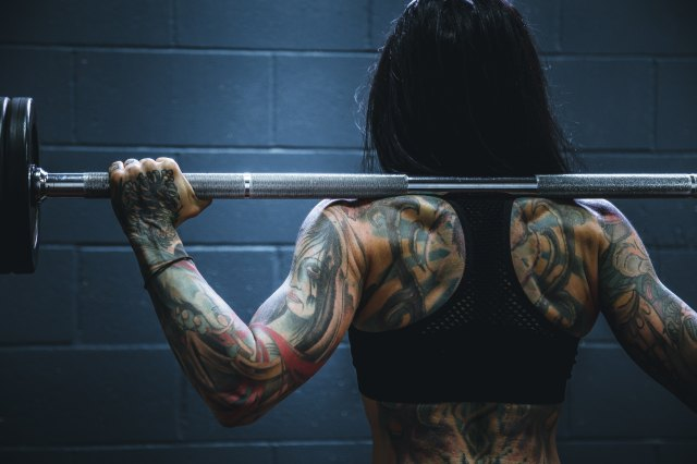 a girl weightlifting