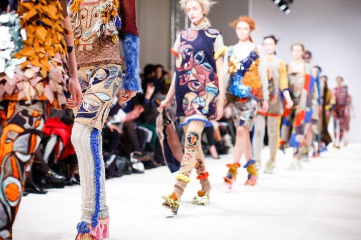 models on a runway