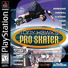 Tony Hawk's Pro Skater game cover