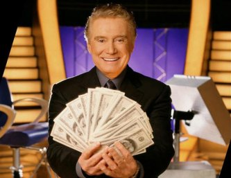 Regis Philbin on the set of Who Wants to be a Millionaire