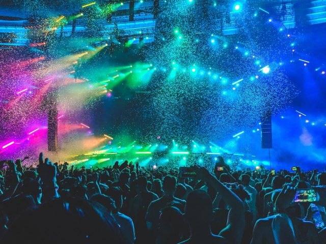 A colorful music concert