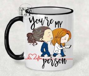Grey's Anatomy mug from Etsy
