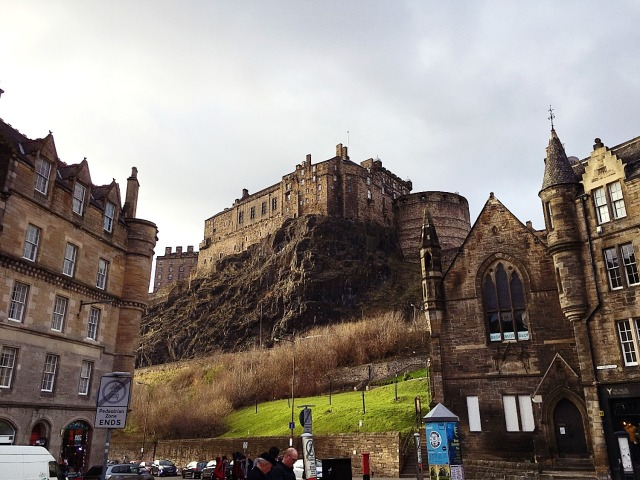 Edinburgh castle on the hill