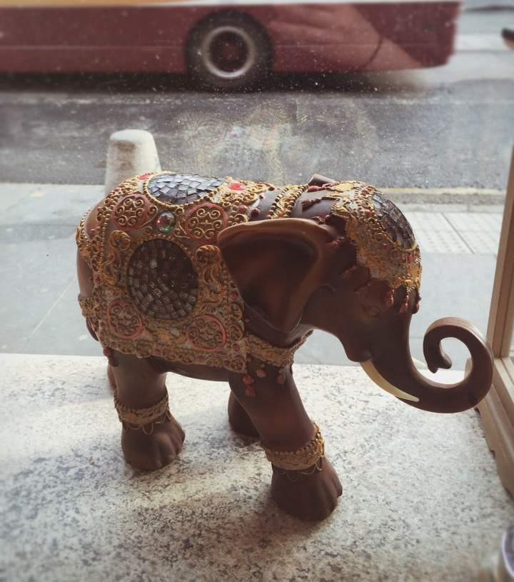 Elephant statue from the Elephant House