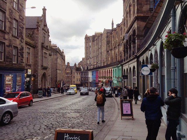 Edinburgh Colorful Street