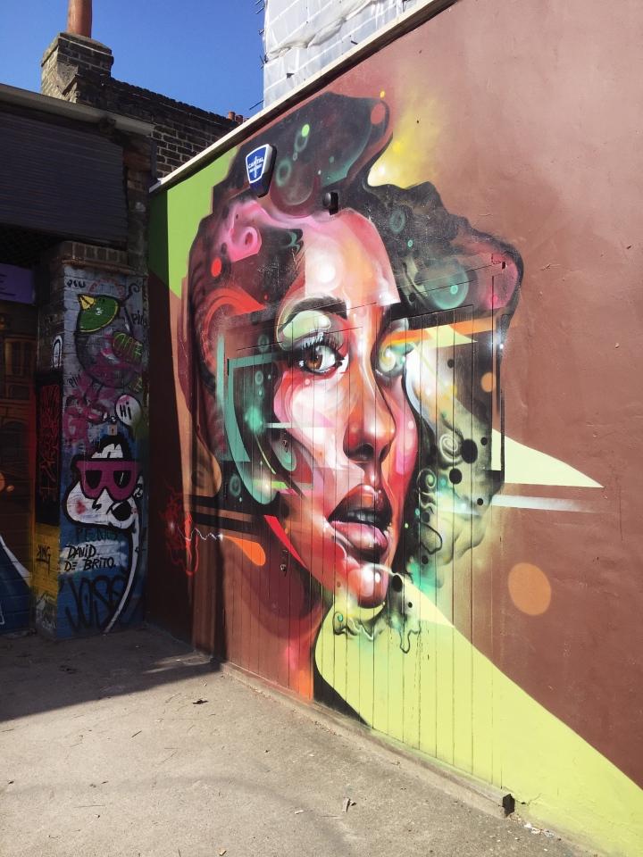 galactic girl street art from london
