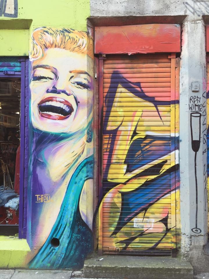 marilyn monroe steet art from london