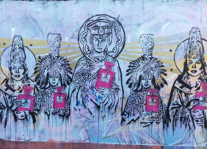 street art piece from shoreditch in london