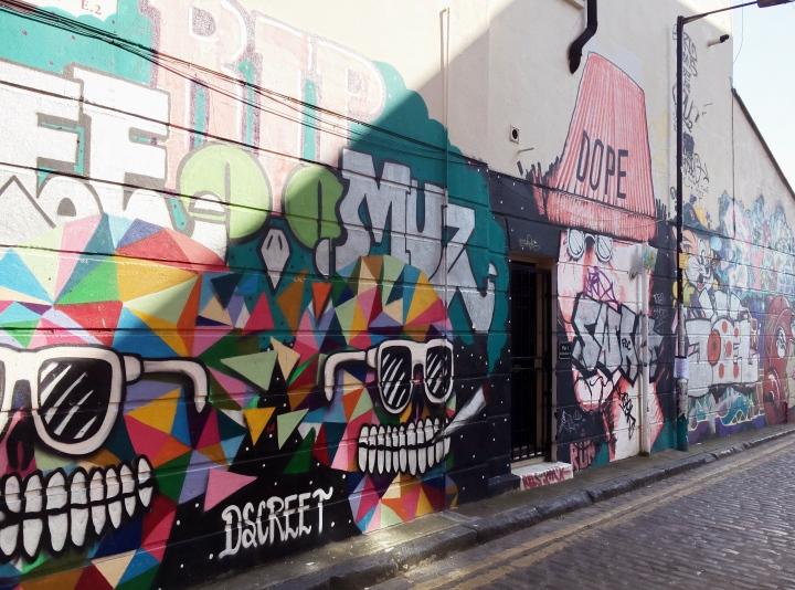 """dope"" street art from shoreditch"