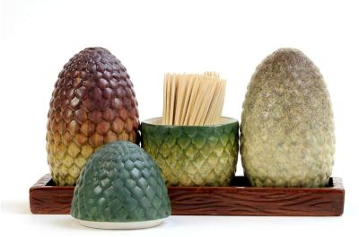 dragon egg salt and pepper shakers - game of thrones